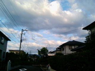 一足先に台風一過