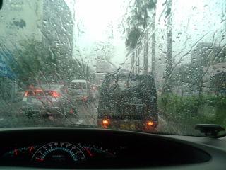 かなりの雨