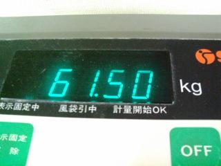 今日の体重